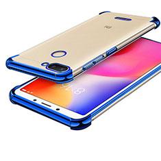 Coque Ultra Fine TPU Souple Housse Etui Transparente H01 pour Xiaomi Redmi 6 Bleu