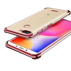 Coque Ultra Fine TPU Souple Housse Etui Transparente H01 pour Xiaomi Redmi 6 Or Rose