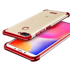 Coque Ultra Fine TPU Souple Housse Etui Transparente H01 pour Xiaomi Redmi 6 Rouge