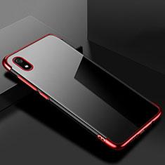 Coque Ultra Fine TPU Souple Housse Etui Transparente H01 pour Xiaomi Redmi 7A Rouge