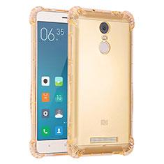 Coque Ultra Fine TPU Souple Housse Etui Transparente H01 pour Xiaomi Redmi Note 3 Pro Or