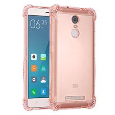 Coque Ultra Fine TPU Souple Housse Etui Transparente H01 pour Xiaomi Redmi Note 3 Rose