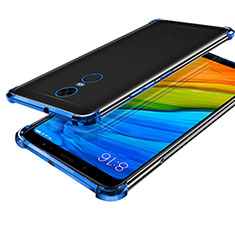 Coque Ultra Fine TPU Souple Housse Etui Transparente H01 pour Xiaomi Redmi Note 5 Indian Version Bleu