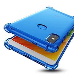 Coque Ultra Fine TPU Souple Housse Etui Transparente H01 pour Xiaomi Redmi Note 5 Pro Bleu