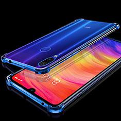 Coque Ultra Fine TPU Souple Housse Etui Transparente H01 pour Xiaomi Redmi Note 7 Bleu