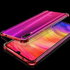 Coque Ultra Fine TPU Souple Housse Etui Transparente H01 pour Xiaomi Redmi Note 7 Rouge