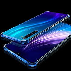 Coque Ultra Fine TPU Souple Housse Etui Transparente H01 pour Xiaomi Redmi Note 8 Bleu