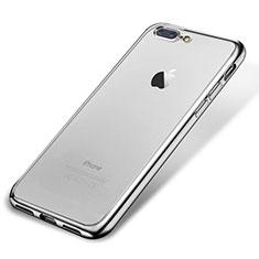 Coque Ultra Fine TPU Souple Housse Etui Transparente H02 pour Apple iPhone 7 Plus Argent