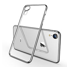 Coque Ultra Fine TPU Souple Housse Etui Transparente H02 pour Apple iPhone XR Argent
