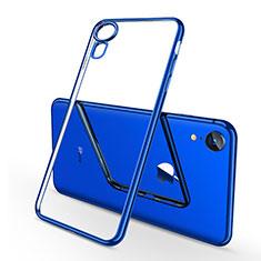 Coque Ultra Fine TPU Souple Housse Etui Transparente H02 pour Apple iPhone XR Bleu