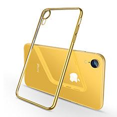 Coque Ultra Fine TPU Souple Housse Etui Transparente H02 pour Apple iPhone XR Jaune