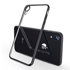 Coque Ultra Fine TPU Souple Housse Etui Transparente H02 pour Apple iPhone XR Noir