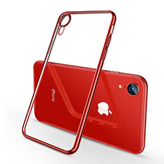 Coque Ultra Fine TPU Souple Housse Etui Transparente H02 pour Apple iPhone XR Rouge