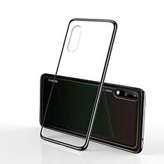 Coque Ultra Fine TPU Souple Housse Etui Transparente H02 pour Huawei Enjoy 10 Noir