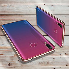 Coque Ultra Fine TPU Souple Housse Etui Transparente H02 pour Huawei Enjoy 9 Plus Or Rose
