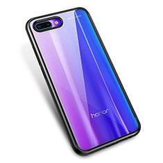Coque Ultra Fine TPU Souple Housse Etui Transparente H02 pour Huawei Honor 10 Noir