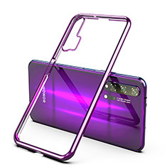 Coque Ultra Fine TPU Souple Housse Etui Transparente H02 pour Huawei Honor 20 Pro Violet