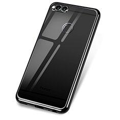 Coque Ultra Fine TPU Souple Housse Etui Transparente H02 pour Huawei Honor 7X Noir