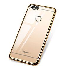 Coque Ultra Fine TPU Souple Housse Etui Transparente H02 pour Huawei Honor 7X Or