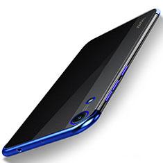 Coque Ultra Fine TPU Souple Housse Etui Transparente H02 pour Huawei Honor 8A Bleu