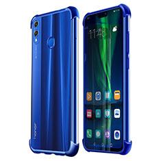 Coque Ultra Fine TPU Souple Housse Etui Transparente H02 pour Huawei Honor 8X Bleu