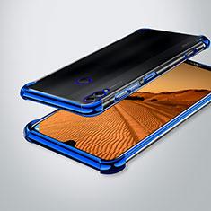 Coque Ultra Fine TPU Souple Housse Etui Transparente H02 pour Huawei Honor 8X Max Bleu