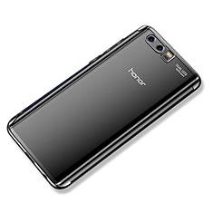 Coque Ultra Fine TPU Souple Housse Etui Transparente H02 pour Huawei Honor 9 Noir