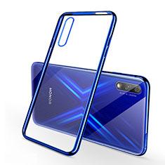 Coque Ultra Fine TPU Souple Housse Etui Transparente H02 pour Huawei Honor 9X Bleu