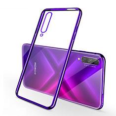 Coque Ultra Fine TPU Souple Housse Etui Transparente H02 pour Huawei Honor 9X Pro Violet
