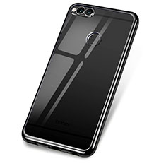 Coque Ultra Fine TPU Souple Housse Etui Transparente H02 pour Huawei Honor Play 7X Noir