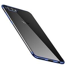Coque Ultra Fine TPU Souple Housse Etui Transparente H02 pour Huawei Honor V10 Bleu