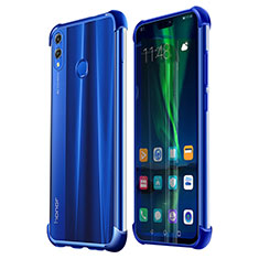 Coque Ultra Fine TPU Souple Housse Etui Transparente H02 pour Huawei Honor V10 Lite Bleu