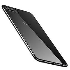 Coque Ultra Fine TPU Souple Housse Etui Transparente H02 pour Huawei Honor V10 Noir