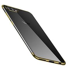 Coque Ultra Fine TPU Souple Housse Etui Transparente H02 pour Huawei Honor V10 Or