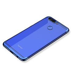 Coque Ultra Fine TPU Souple Housse Etui Transparente H02 pour Huawei Honor V9 Bleu