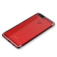 Coque Ultra Fine TPU Souple Housse Etui Transparente H02 pour Huawei Honor V9 Rouge