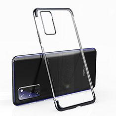 Coque Ultra Fine TPU Souple Housse Etui Transparente H02 pour Huawei Honor View 30 5G Noir
