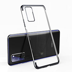Coque Ultra Fine TPU Souple Housse Etui Transparente H02 pour Huawei Honor View 30 Pro 5G Noir
