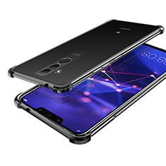 Coque Ultra Fine TPU Souple Housse Etui Transparente H02 pour Huawei Maimang 7 Noir