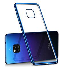 Coque Ultra Fine TPU Souple Housse Etui Transparente H02 pour Huawei Mate 20 Pro Bleu