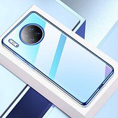 Coque Ultra Fine TPU Souple Housse Etui Transparente H02 pour Huawei Mate 30 Bleu
