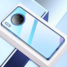 Coque Ultra Fine TPU Souple Housse Etui Transparente H02 pour Huawei Mate 30E Pro 5G Bleu
