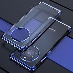 Coque Ultra Fine TPU Souple Housse Etui Transparente H02 pour Huawei Mate 40 Bleu