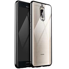Coque Ultra Fine TPU Souple Housse Etui Transparente H02 pour Huawei Mate 9 Pro Noir