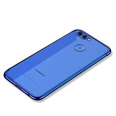 Coque Ultra Fine TPU Souple Housse Etui Transparente H02 pour Huawei Nova 2 Bleu