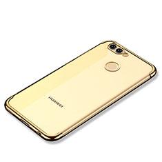 Coque Ultra Fine TPU Souple Housse Etui Transparente H02 pour Huawei Nova 2 Plus Or