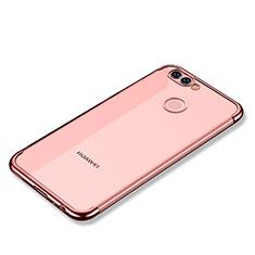 Coque Ultra Fine TPU Souple Housse Etui Transparente H02 pour Huawei Nova 2 Plus Or Rose