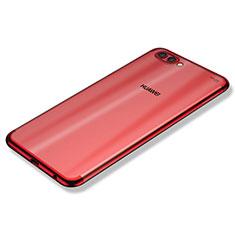 Coque Ultra Fine TPU Souple Housse Etui Transparente H02 pour Huawei Nova 2S Rouge