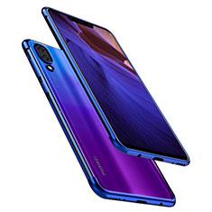 Coque Ultra Fine TPU Souple Housse Etui Transparente H02 pour Huawei Nova 3 Bleu