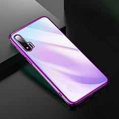 Coque Ultra Fine TPU Souple Housse Etui Transparente H02 pour Huawei Nova 6 5G Violet